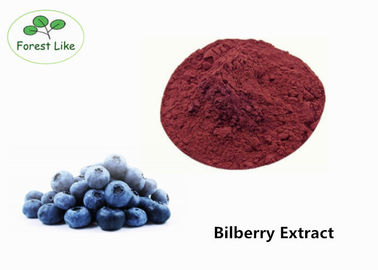 China Natural Antioxidant Bilberry Extract 10% Anthocyanidins Fuchsia Powder supplier