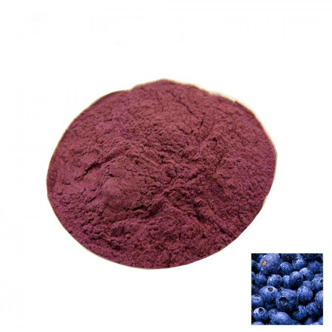 Natural Antioxidant Bilberry Extract 10% Anthocyanidins Fuchsia Powder