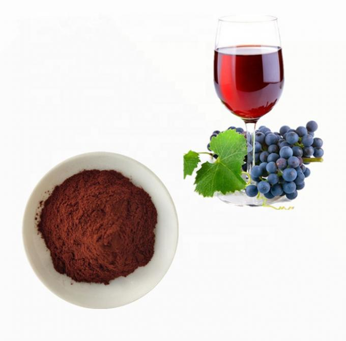 Natural Antioxidant Red Wine Anthocyanin Extract Powder 30% Polyphenols Healthcare